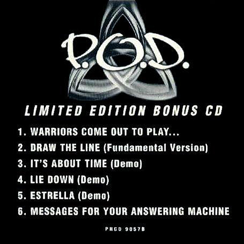 POD Limited Edition Bonus CD by POD